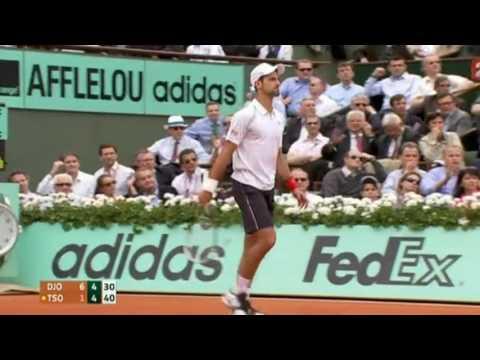Novak Djokovic vs Jo Wilfried Tsonga French Open 2012 Quarter Final Highlights