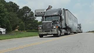 Video still for Mack Trucks, NASCAR Thank Truckers, Frontline Hospital Workers with Mack Anthem Hauler Parade
