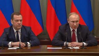Смотреть видео Правительство России подало в отставку онлайн