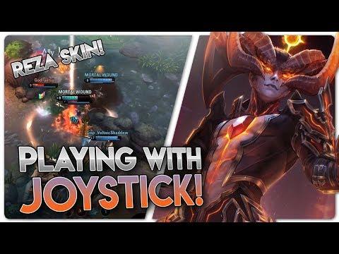NETHERKNIGHT REZA + PLAYING WITH JOYSTICK!! Vainglory 5v5 Gameplay - Reza |CP| Jungle Gameplay