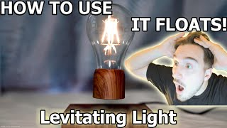 Floating Wireless LED Light Bulb Desk Lamp VGAzer Magnetic Levitating Home Decor Desk Tech Toys 4K