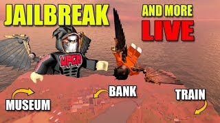 Roblox JAILBREAK Cash Grind and More Games Live