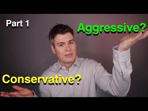 Investing  -  Aggressive Vs Conservative Part 1  -  Avoiding Losses