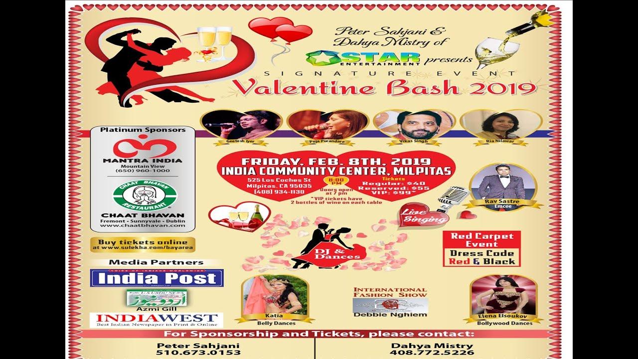 VALENTINE BASH 2019 at India Community Center, Milpitas, CA | Indian