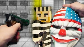 REALISTIC MINECRAFT - STEVE ROBS A BANK!🔫