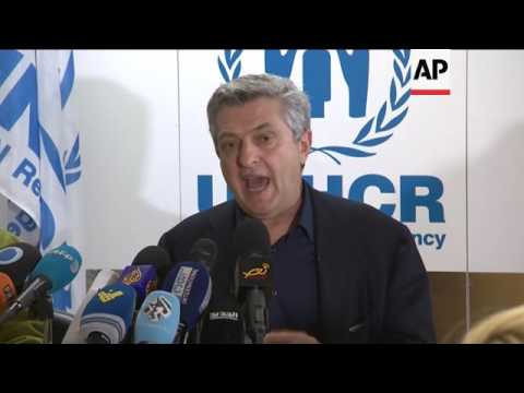 Grandi calls for peace in Syria on Lebanon visit