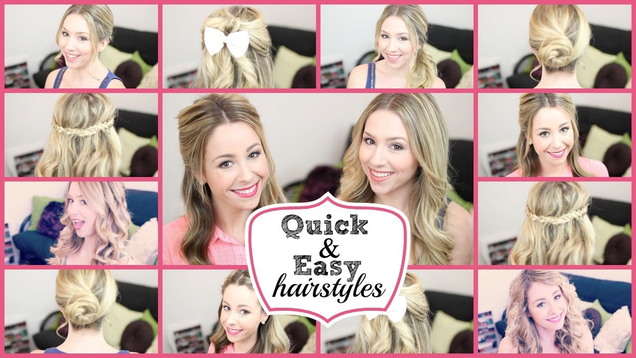 Quick Easy Hairstyles For School Long Hair Page 1