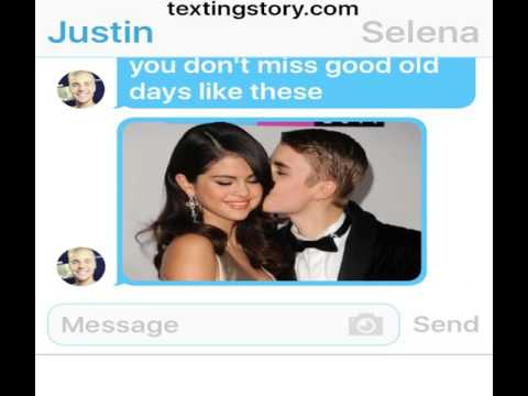 Justin Bieber and Selena Gomez texting