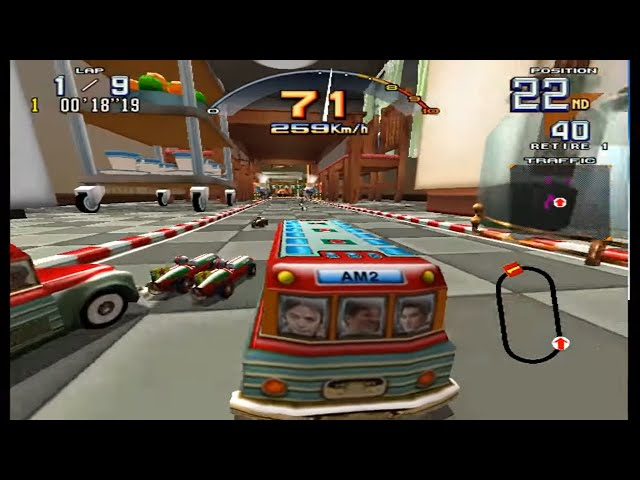 Scud Race Plus - Sega Model 3 - Super Beginner - Bus 9 Voltas/Laps - Corrida Completa/Full Race