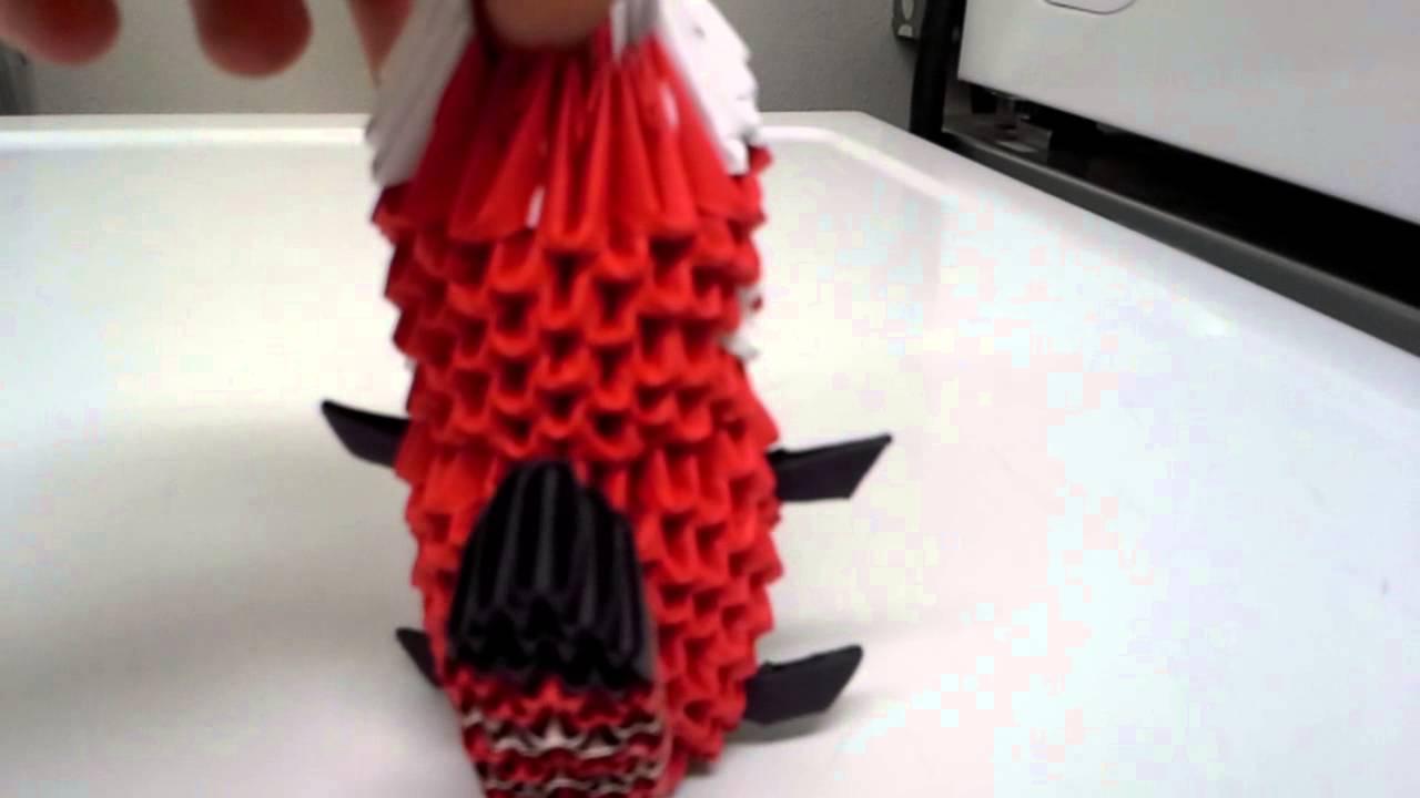 how to make an origami panda