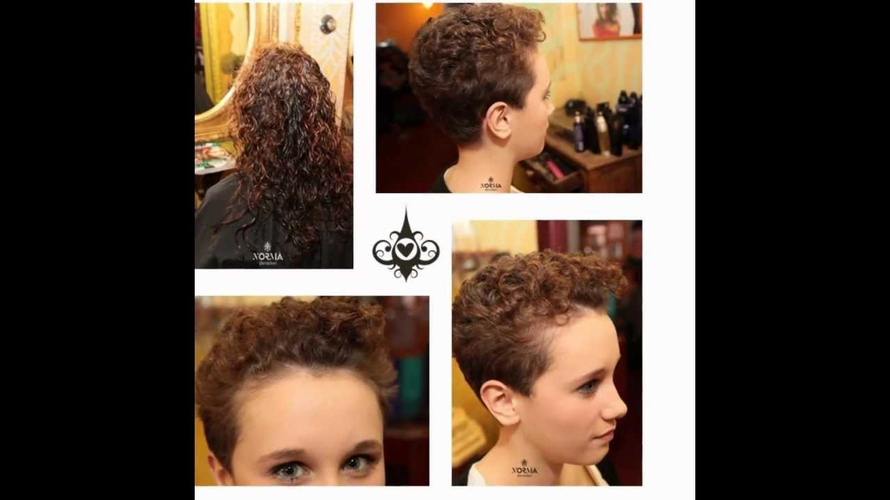 Haircut On Long And Curly To Pixie Cut Comment Or Like