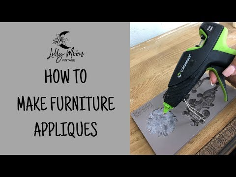 How to make an appliqué using a Hot Glue Gun