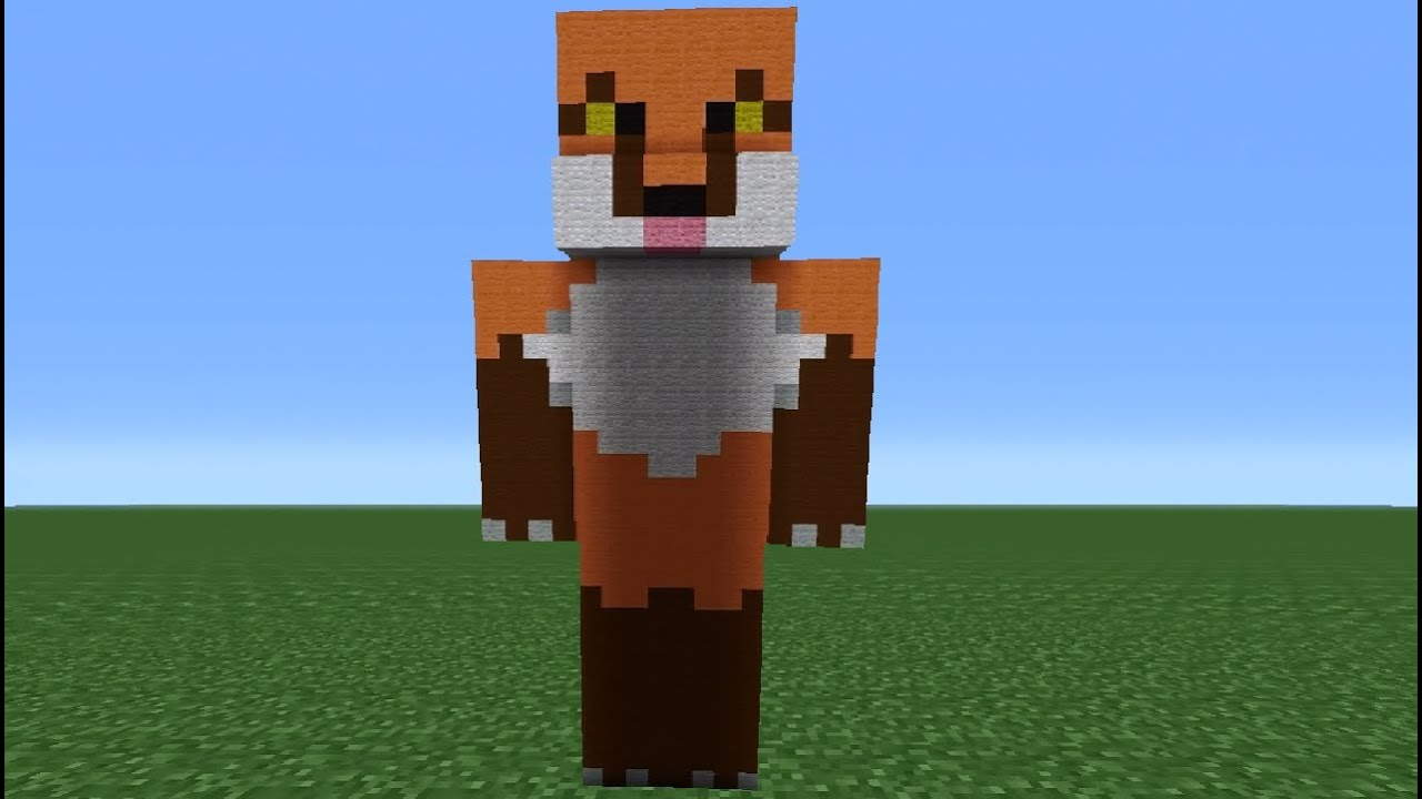 minecraft tutorial how to build your own skin statue