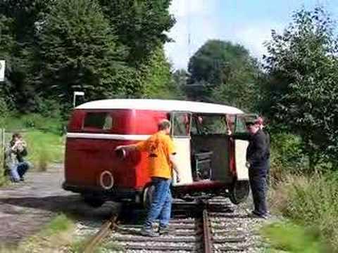VW Barndoor railway bus - YouTube