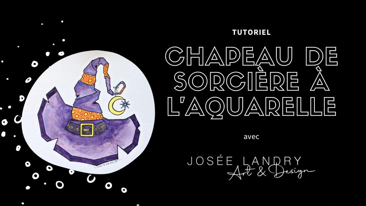 Download Chapeau de sorcière à l'aquarelle - Tutoriel spécial Halloween