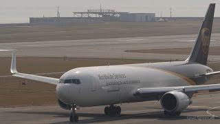 UPS航空 [ アメリカ ] ボーイング767-300F 関西国際空港 ランウェイ2...