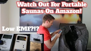 Portable Sauna EMF Levels - Radiant Portable Sauna [SUPER HIGH EMF] Amazon Infrared Sauna