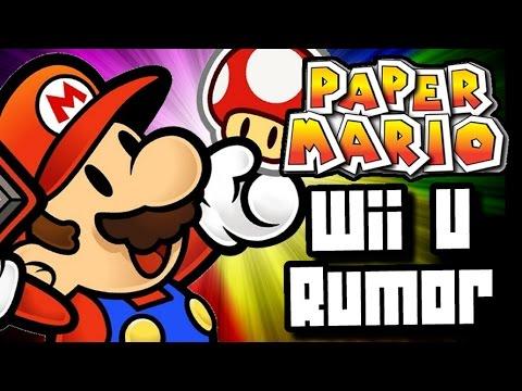 Paper Mario Wii U Rumor New Game Coming Soon Youtube