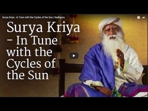 Surya Kriya   In Tune with the Cycles of the Sun   Sadhguru