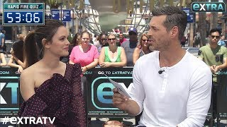 Eddie Cibrian Gives Co-Star Rachel Bilson a 60-Second Rapid Fire Quiz!