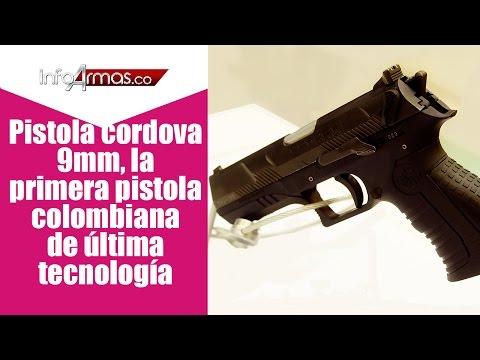 Pistola Cordova 9 milimetros Colombia, la pirmera pistola Colombiana de ultima tecnologia.
