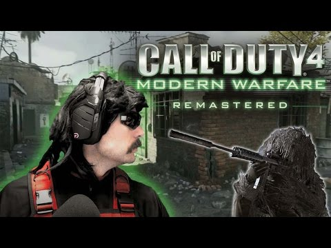 DR DISRESPECT FUNNY CoD 4 REMASTERED MOMENTS!