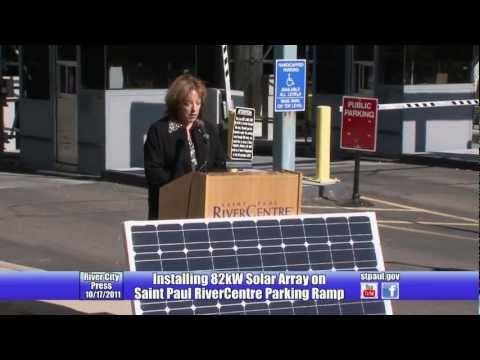 New Solar Panels on RiverCentre Parking Ramp