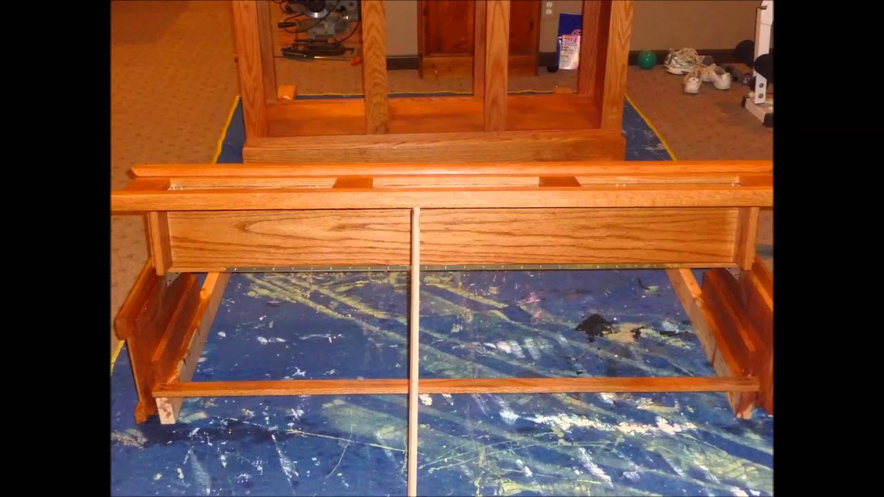 DIY Oak Aquarium Stand Canopy Build