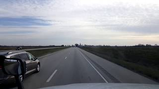 BigRigTravels LIVE! Mattoon to Mount Vernon, Illinois Interstate 57 South-April 17, 2018