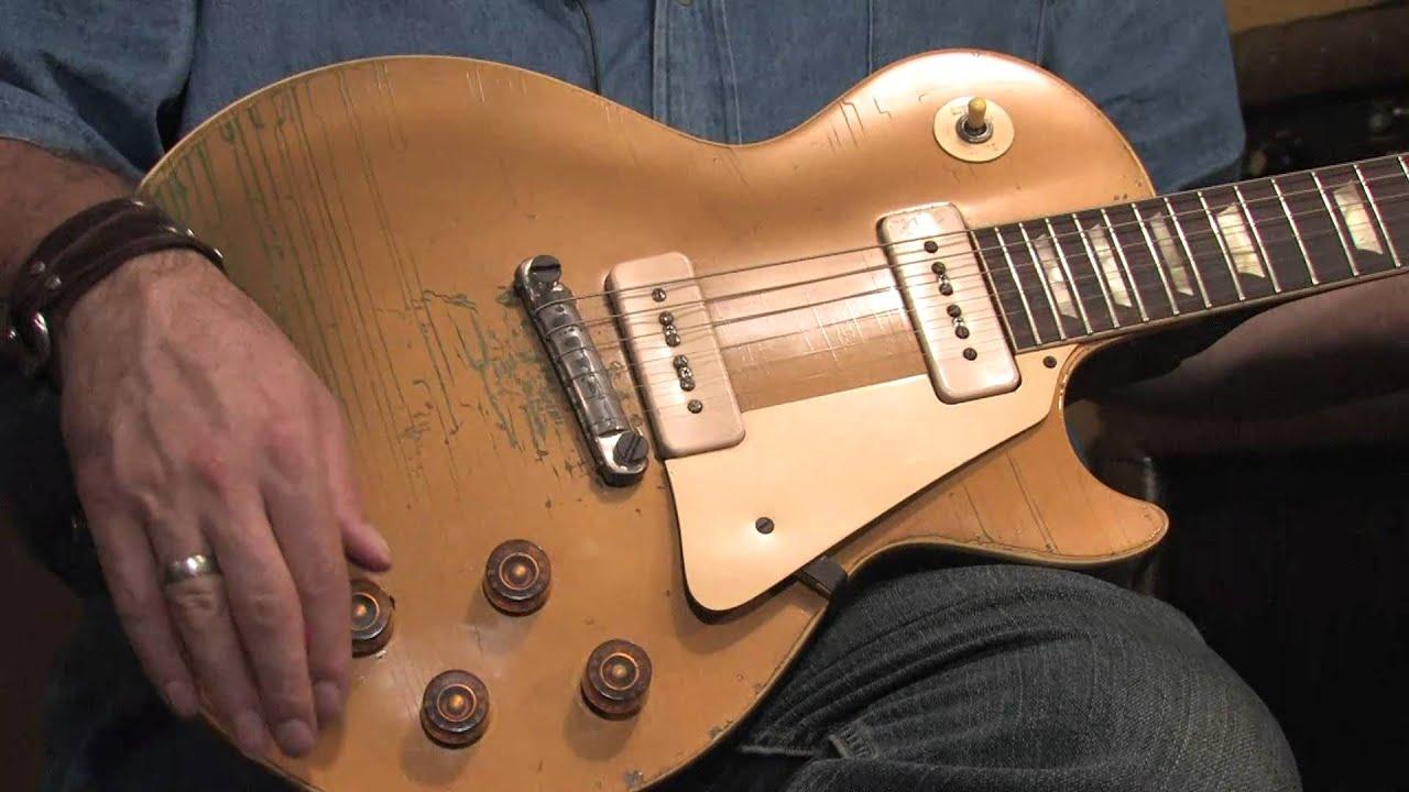 c3a4ebdca8f368 1955 Gibson Les Paul Goldtop guitar demo - YouTube