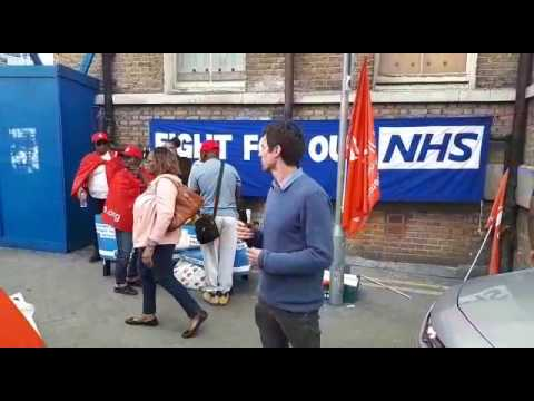 Protests still continues at the Royal London Hospital in Whitechapel hospital today
