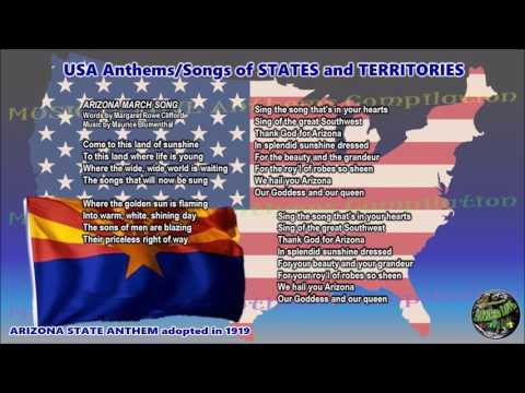 Arizona State Anthem ARIZONA MARCH SONG with music, vocal and lyrics