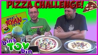 The Pizza Challenge! Gross Pizza Toppings! | What's Ryan Tryin'? | Bin's Toy Bin