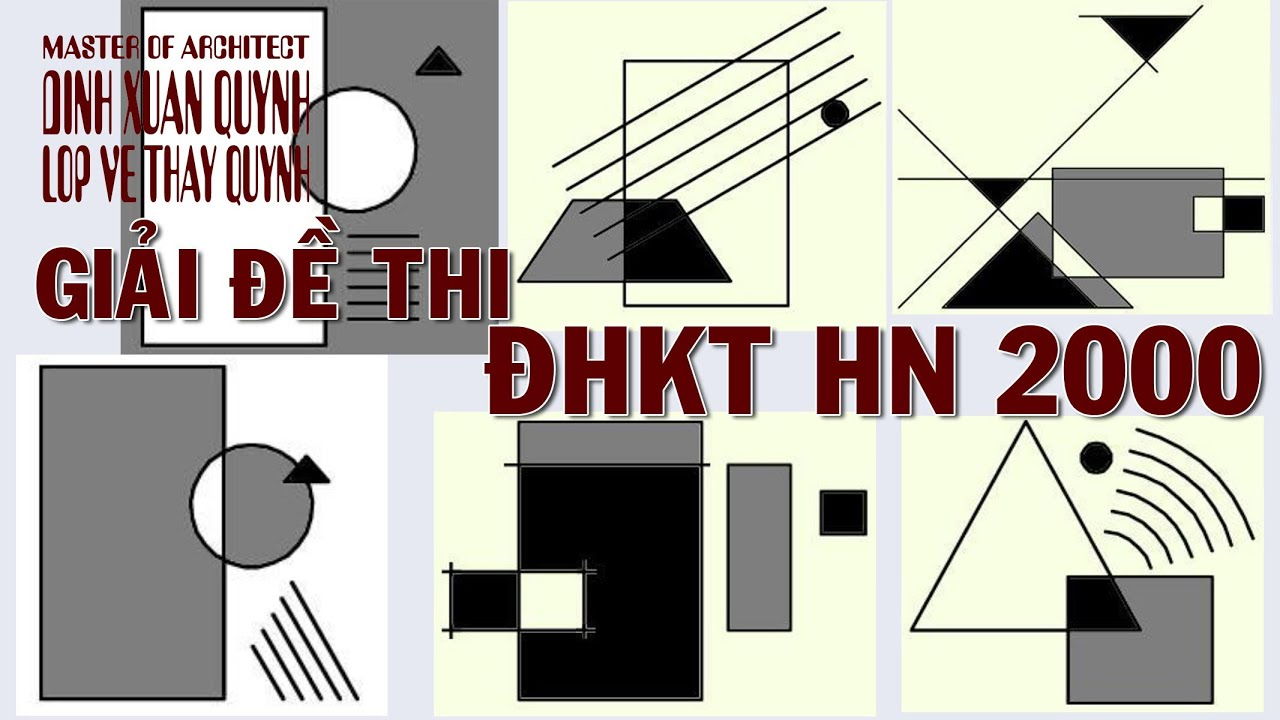 Bố cục tạo hình: Hướng dẫn giải đề thi Mt2 Kiến trúc HN khối V năm 2000 | Tổng hợp những kiến thức liên quan đến đề thi vẽ khối v đại học kiến trúc đầy đủ nhất