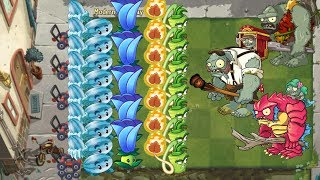 Moonflower, Wasabi Whip vs All Zombies - Plants vs Zombies 2