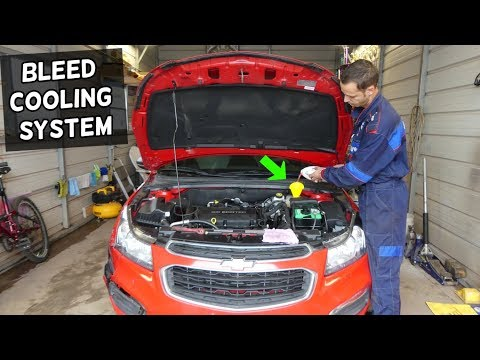 HOW TO BLEED COOLING SYSTEM ON CHEVROLET CRUZE SONIC 1.8 1.4  CAR OVERHEATS