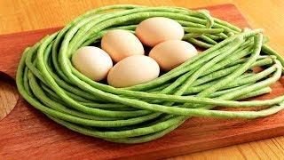 豆角這樣做太好吃了,加上5個雞蛋,教你解饞新吃法,比吃肉還香【夏媽廚房】