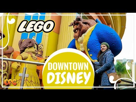 GINORMOUS BEAUTY AND THE BEAST LEGO | DOWNTOWN DISNEYLAND TOUR