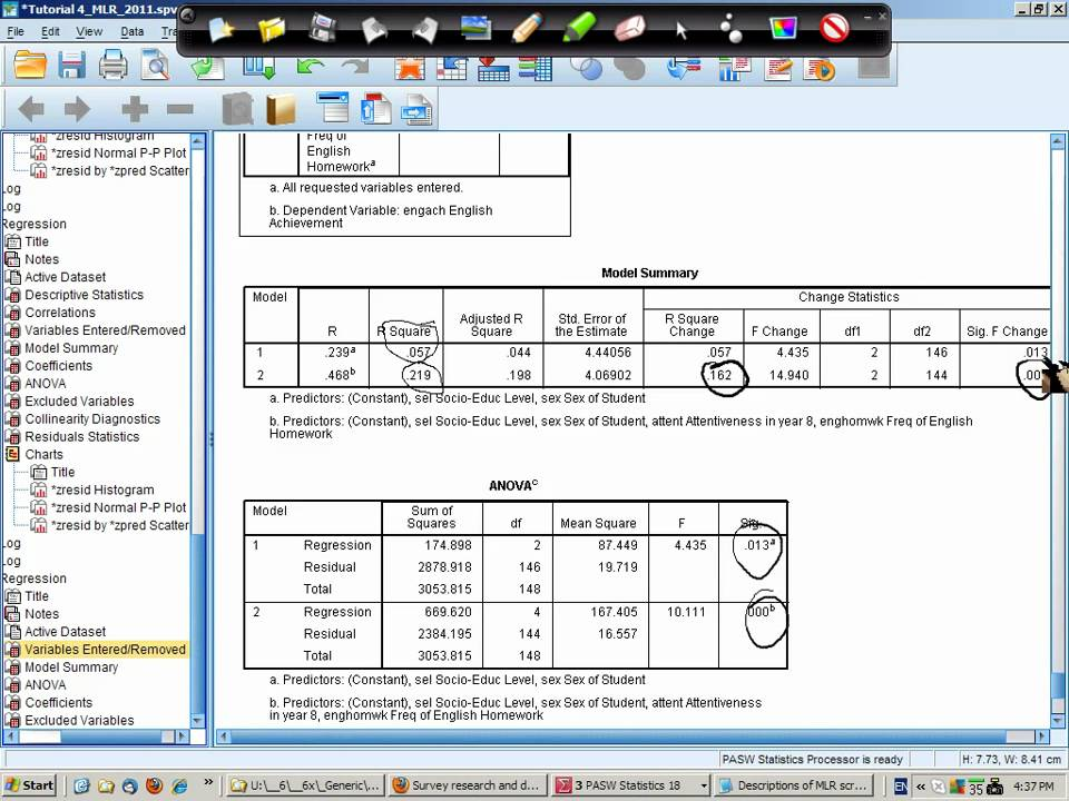 how to build a regression model in excel