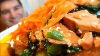 Flaked Salmon Stir-fry: A Combo Of Sesame, Pineapple & Ginger