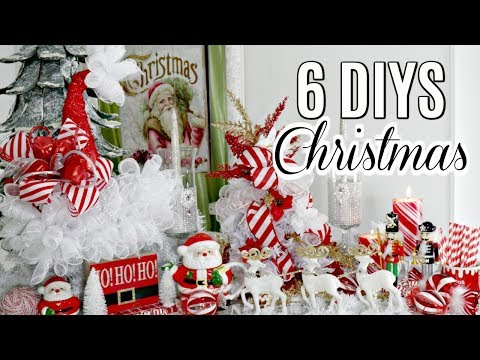 "🎄6 DIY DOLLAR TREE CHRISTMAS DECOR CRAFTS 2019🎄 ""I Love Christmas"" ep15 Olivia's Romantic Home DIY"