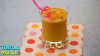 Mango Soya Milkshake (Lactose Intolerance &Kiddie Recipe) by Tarla Dalal