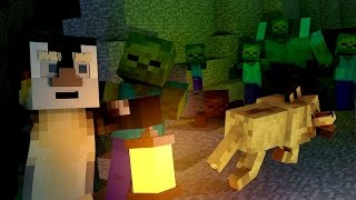 Minecraft | The Forest - SAVING DOG FROM ZOMBIE CAVE! (Zombie Survival) #3