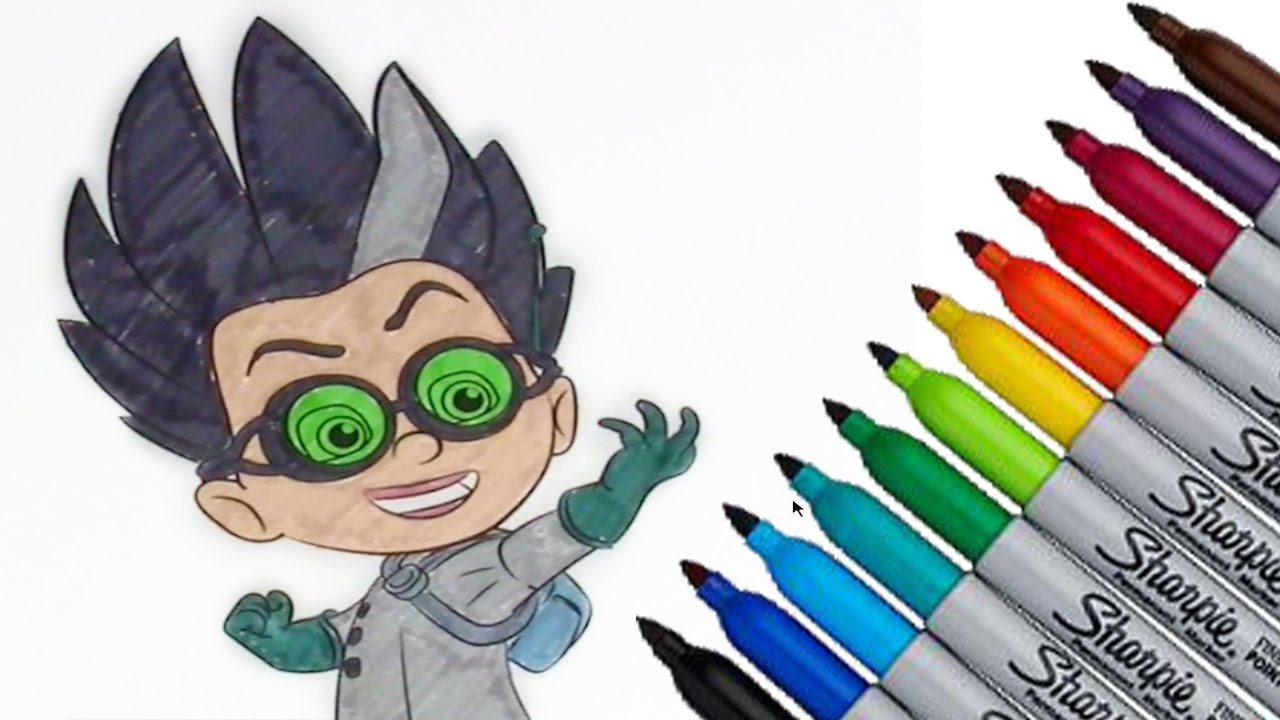 Romeo Pj Masks Coloring Page 2017 New Hd Video For Kids Youtube