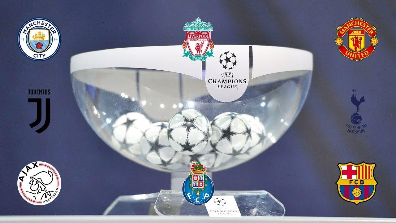 Champions League   Simulación sorteo cuartos de final 2019 - YouTube