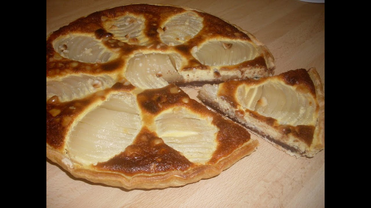 tarte aux poires amandine et chocolat recette de tarte facile youtube. Black Bedroom Furniture Sets. Home Design Ideas