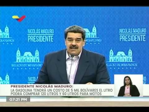 Maduro anuncia nuevos precios de la gasolina en Venezuela: hay uno subsidiado y otro internacional