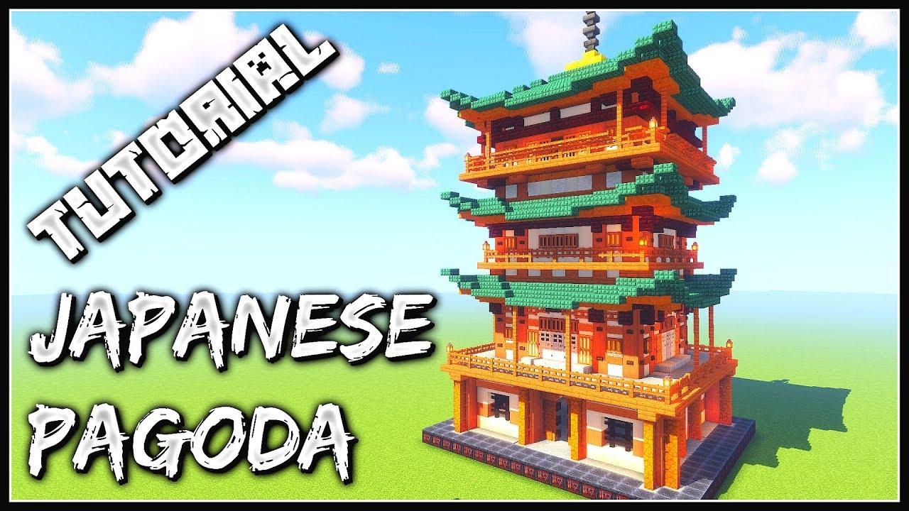How To Build A Japanese Pagoda Minecraft Tutorial Youtube