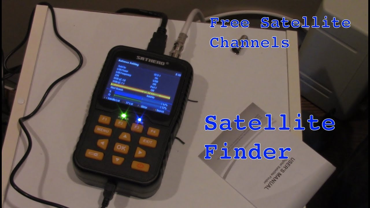 docooler SATHERO SH-100HD Signal Finder Meter DVB-S//S2 HD Digital TV Signal Finder Receiver LCD Dispaly