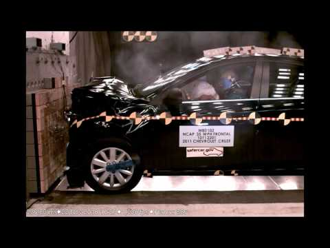 Chevrolet Cruze |  2011 | Frontal Crash Test | High Speed Camera | NHTSA Full Length Test